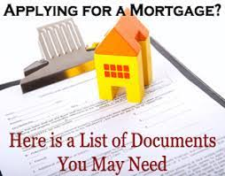 What documents do i need to close my new mortgage request?